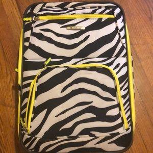 Zebra Print Suitcase